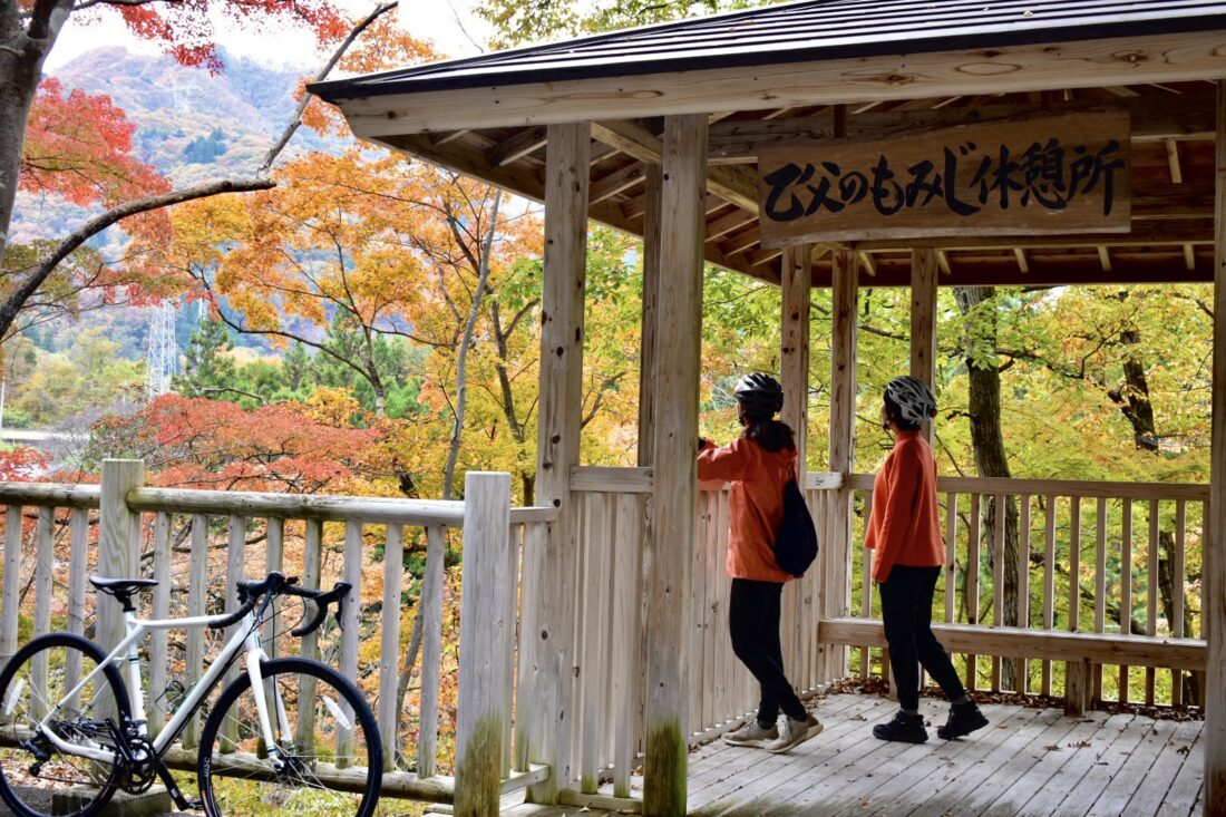 Fall Cycling Route in Uenomura: Rest Hut