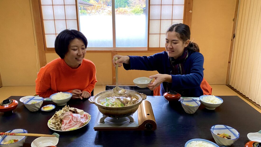 Fall Cycling Route in Uenomura: Lunch