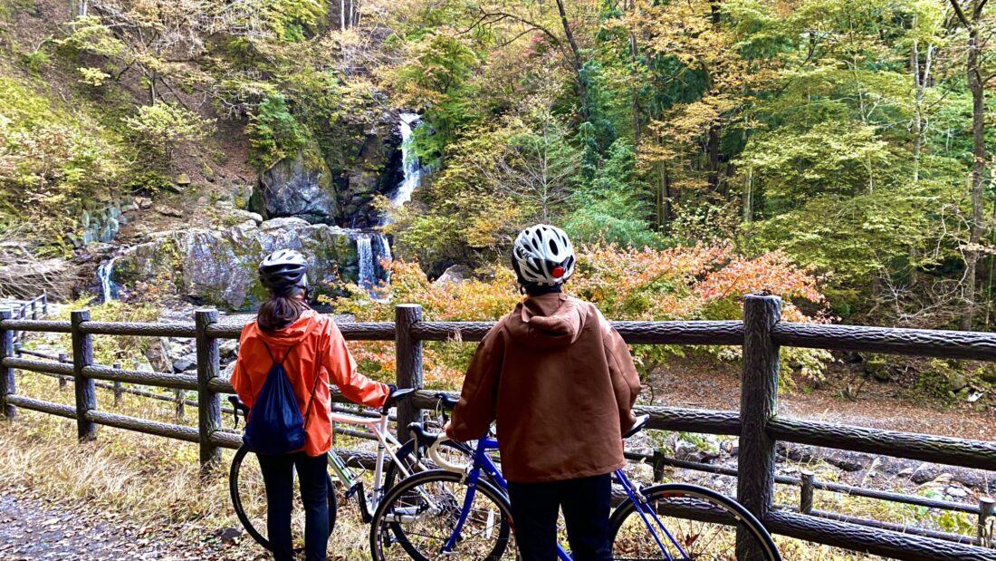Fall Cycling Route in Uenomura: Ryujin Falls