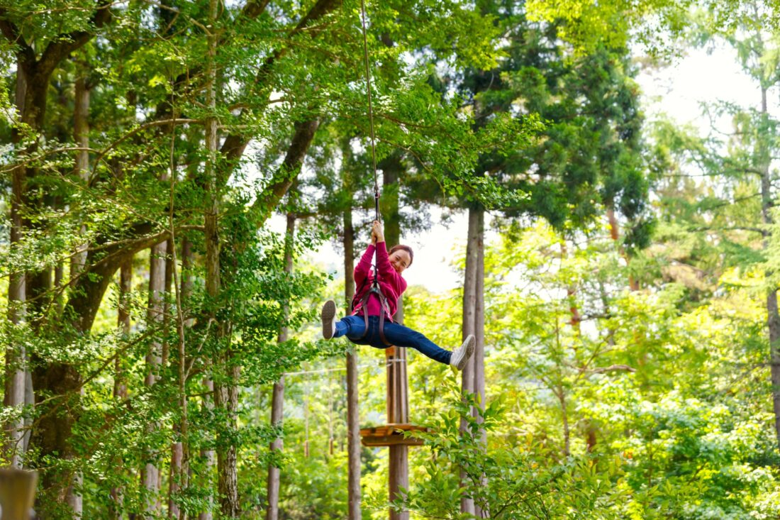 Fall Fun for the Whole Family in Ueno: Forest Adventure