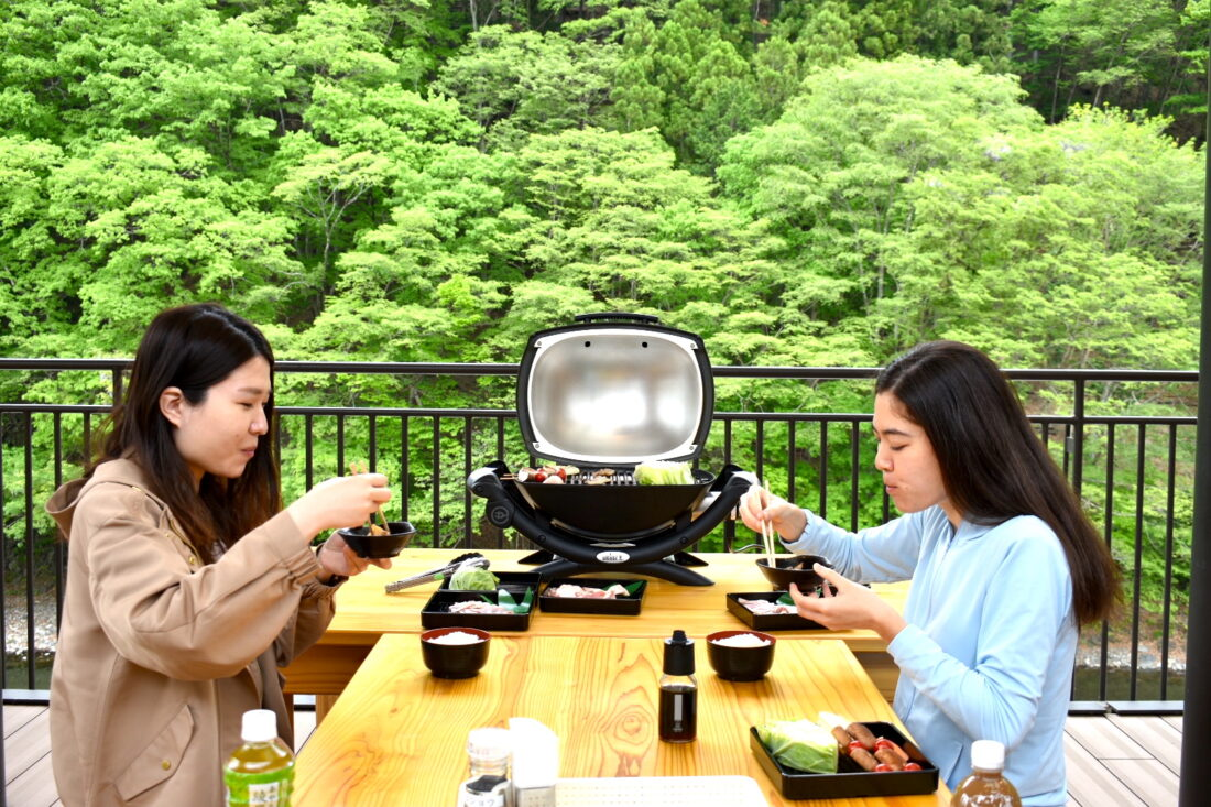Fun for the Whole Family: Terrace BBQ lunch at Roadside Station Ueno