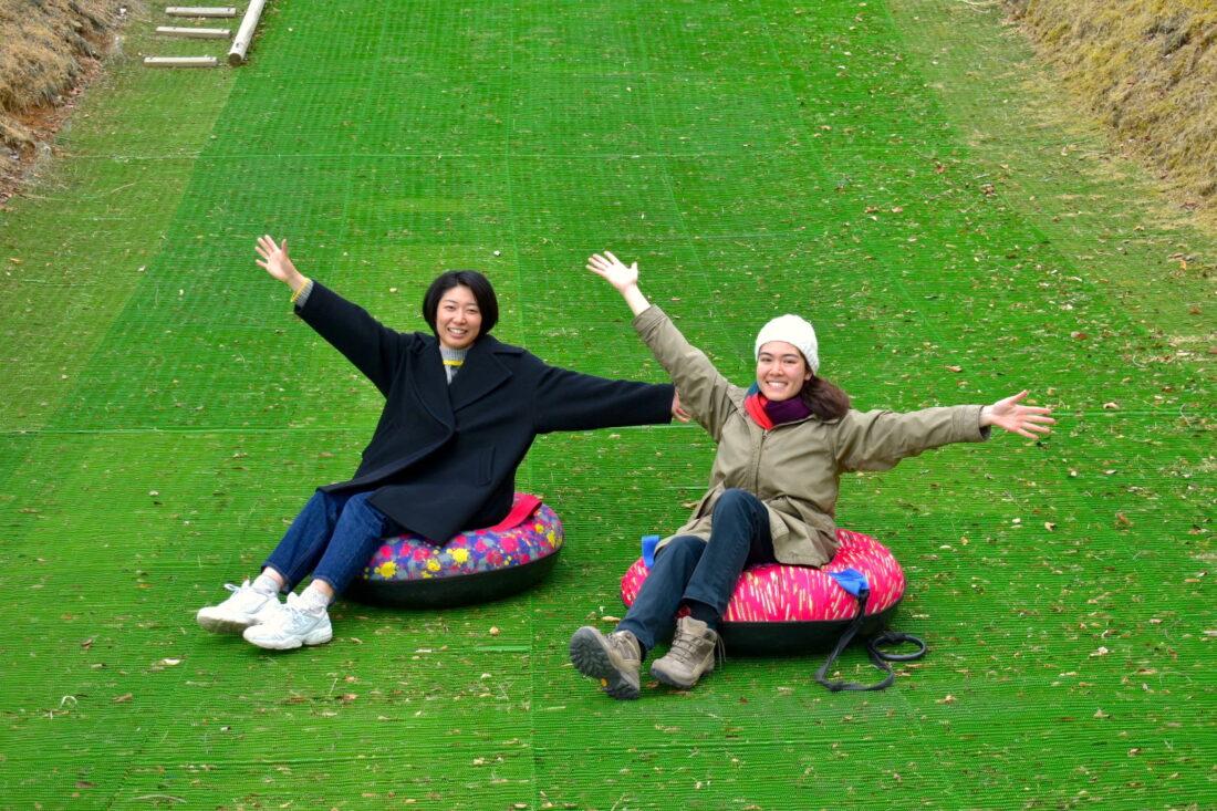 Family Weekend Getaway in Uenomura: Snowless tubing
